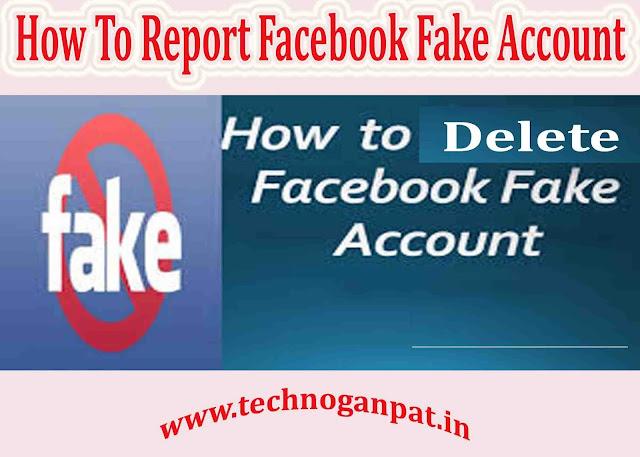 report facbook fake account