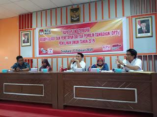 Rapat Pleno Terbuka Rekapitulasi & Penetapan DPTb Pemilu 2019