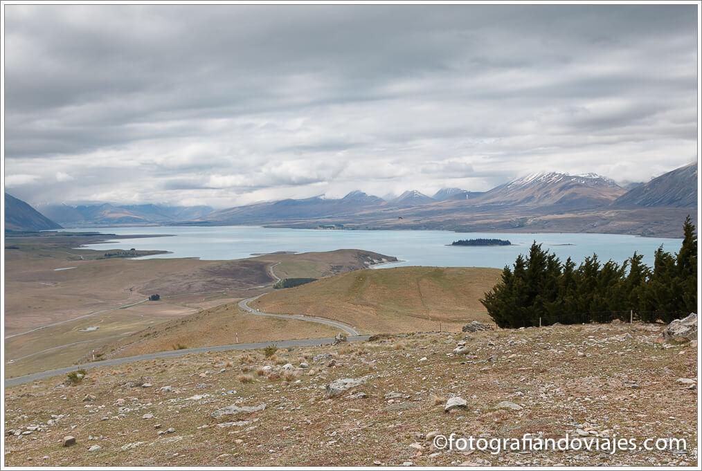 Lago Tekapo desde el Monte John