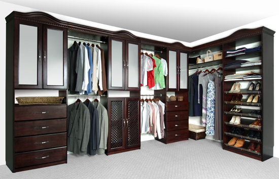 luxury wood closet systems design