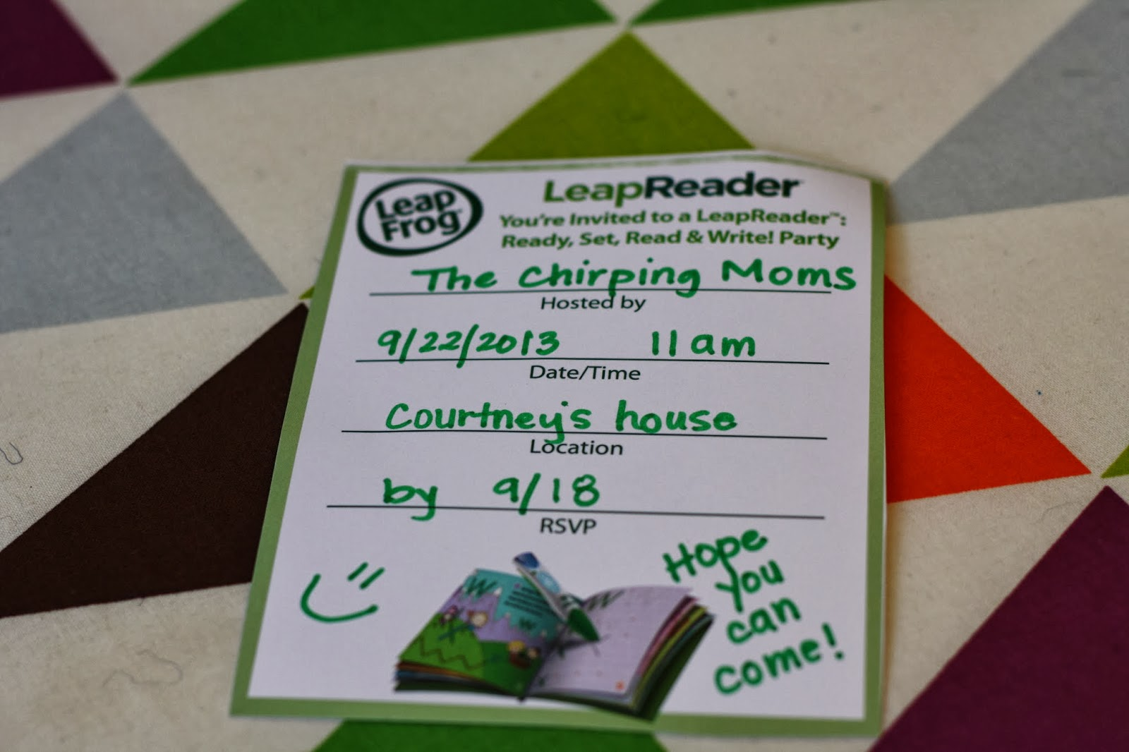 A Fun Abc Playdate Featuring Leapfrog Leapreader