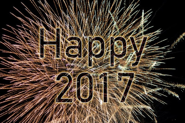 2017 Happy New Year HD Black Back Ground Photos