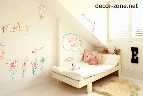 kids room wall decor ideas , white walls