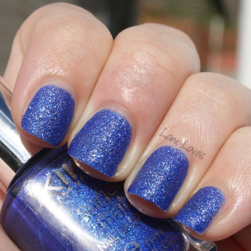 Kiko Sugar Mat Royal Blue nail polish swatch & review