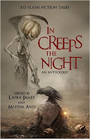 Cover image of In Creeps the Night, a Halloween-themed charity anthology with my story, Little Monsters!