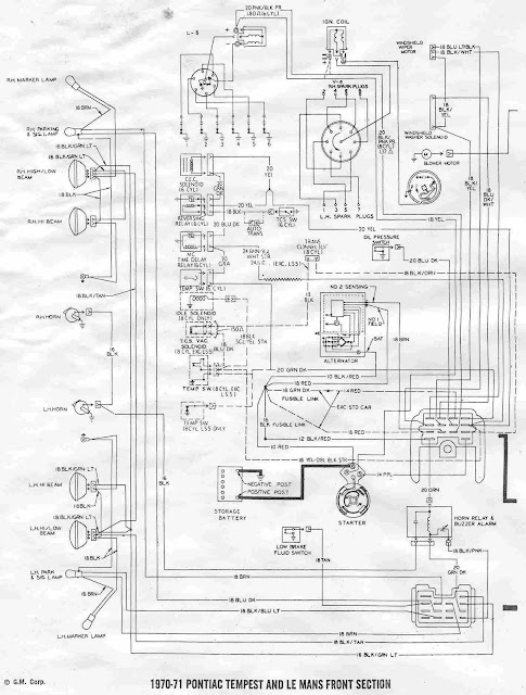 horn relay wiring diagram 71 le mans