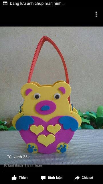 Ide membuat tas menggunakan bahan dasar foam  berbentuk beruang