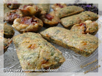 Financiers poivron basilic chorizo sans gluten