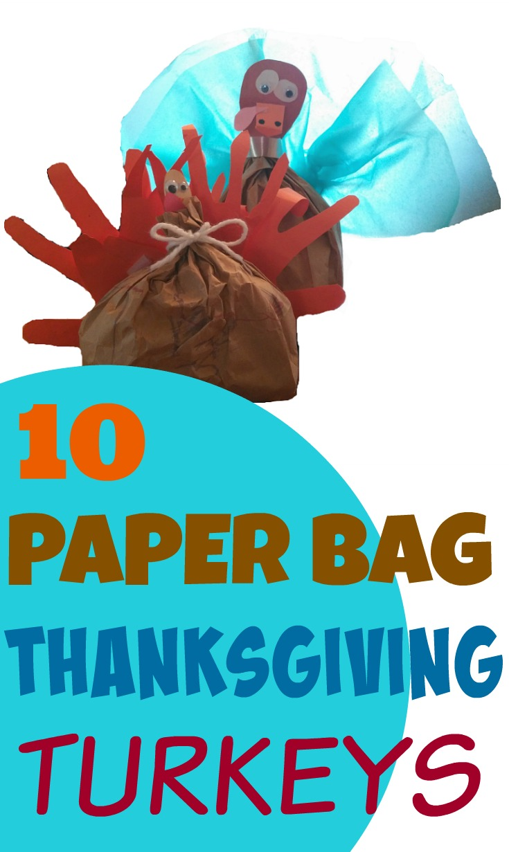 10 Paper Bag Thanksgiving Crafts: Turkey