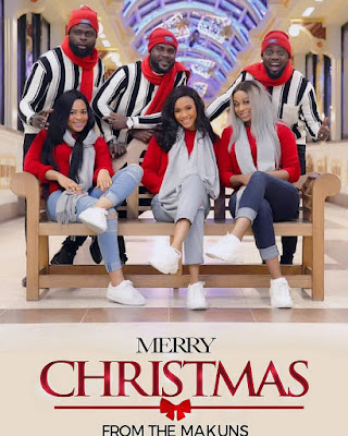 Ay Comedian,his brothers and their wives in lovely #Christmas card