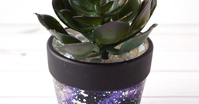 Diy Galaxy Flower Pot Artsy Fartsy Mama