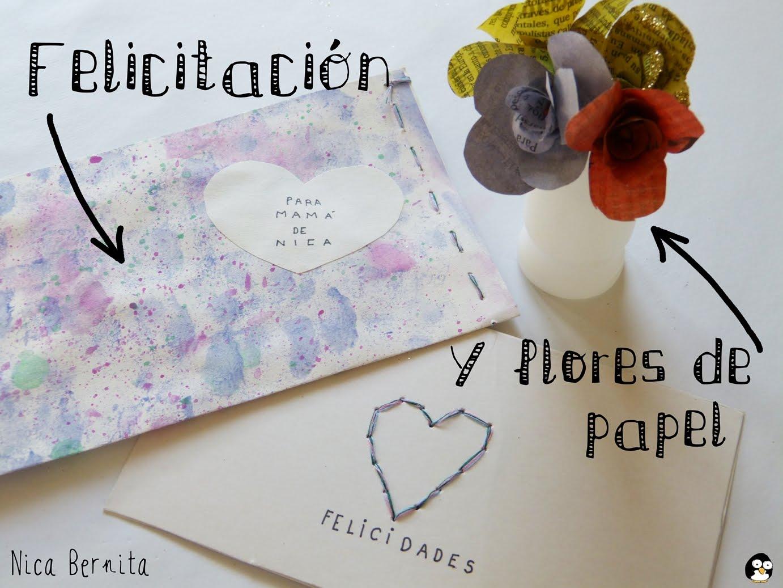 Tarjetas Y Flores Para El Dia De La Madre Manualidades Faciles