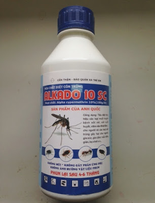 Thuốc diệt muỗi, diệt côn trùng Alkado 10SC