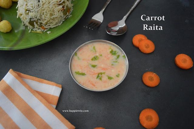 Carrot Raita Recipe | How to make Carrot Raita