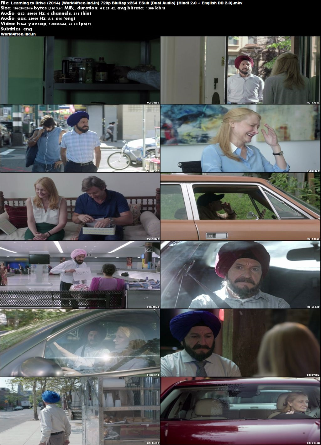 Learning to Drive 2014 world4free.ind.in Dual Audio BRRip 720p Hindi English