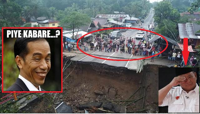 (Lagi) Dibayar Tuhan KONTAN !! Koar-Koar Tidak Butuh Infrastruktur, Langsung Tuhan Hancurkan Infrastruktur di Daerah Basis Prabowo-Sandi