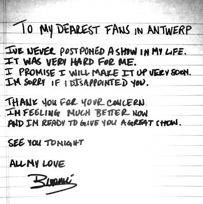 beyonce handwritten apology letter