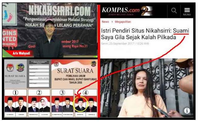 """Ternyata Pemilik Situs """"Lelang Perawan"""" CABUP PDIP yang Gila Setelah Kalah Pilkada Bayumas 2008"""
