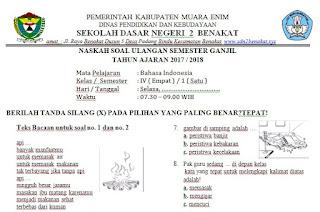 Soal UAS Semester 1 Kelas 2 Bahasa Indonesia