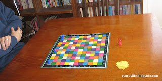 The multi-coloured board game Quandary, easy to learn, tricky to win!