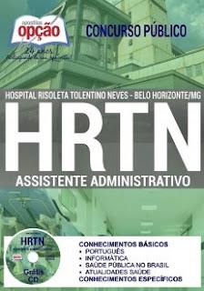 Apostila Concurso HRTN BH 2017 Assistente Administrativo