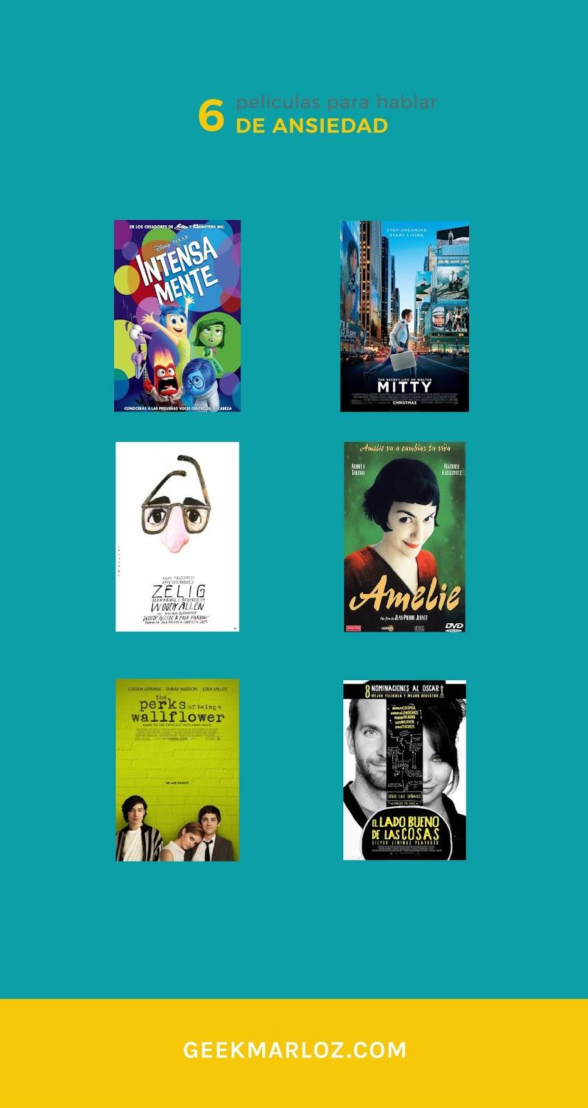 6 películas para hablar de ansiedad