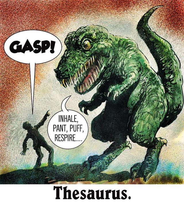 Mystery Fanfare: Cartoon of the Day: Thesaurus