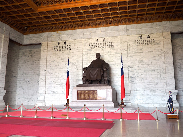 Statue inside the Chiang Kai Shek Memorial Hall, Taipei, Taiwan