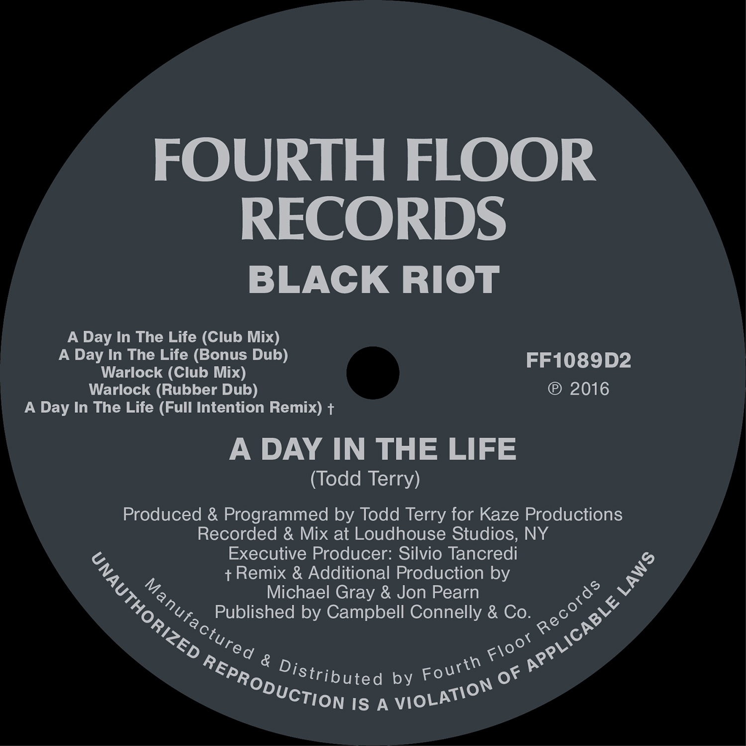 Les chroniques de hiko black riot a day in the life for Fourth floor records