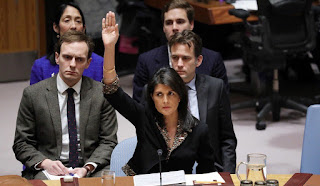 Russia has fiercely criticised the US for convening the UN Security Council