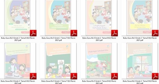 Download Buku Tematik Terpadu Kurikulum 2013 Edisi Revisi 2017 untuk Guru dan Siswa Kelas 5 SD-MI Semester 2 Tema 6-7-8-9
