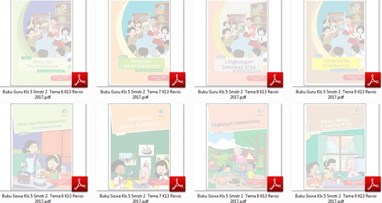 dirancang untuk mengembangkan kompetensi siswa dalam ranah pengetahuan Download 18 Buku Tematik Terpadu Kurikulum 2013 Edisi Revisi 2017 Tahun Pelajaran 2017/2018 untuk Guru dan Siswa SD/MI Kelas 5 Semester 1-2 Lengkap Tema 1, 2, 3, 4, 5, 6, 7, 8, dan 9