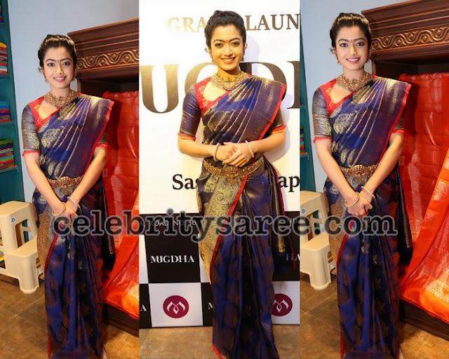 Rashmika Mandanna Benaras Saree