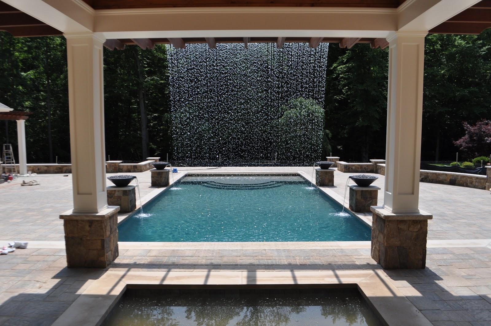 Landscape Architectural Design Rain Curtain