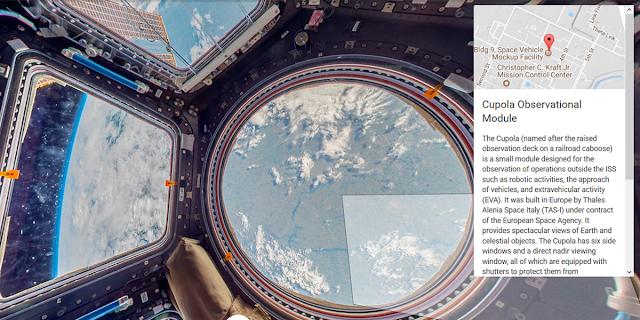 stasiun luar angkasa di street view