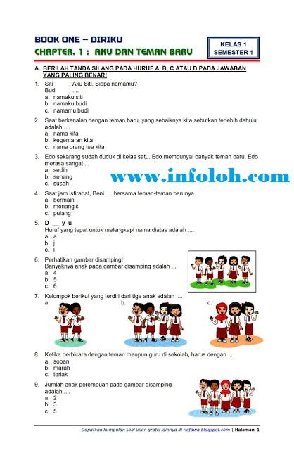 Soal Ulangan Harian Tema 1 Kelas 1 Sd : ulangan, harian, kelas, Contoh, Ujian, Kelas, Pengetahuan