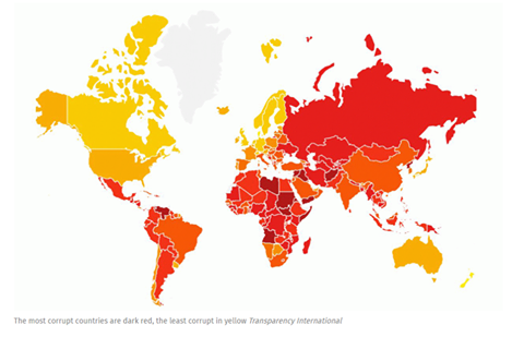 Ten of the world's most corrupt countries named