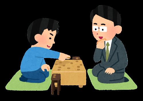 将棋の指導のイラスト