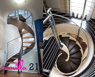 The spiral stairs for a minimalist home