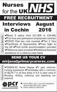nurse job vacancy in uk