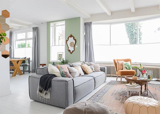 sofá grande, decor, home decor, a casa eh sua, acasaehsua, manta no sofá, decoração, interior design, interior, puff