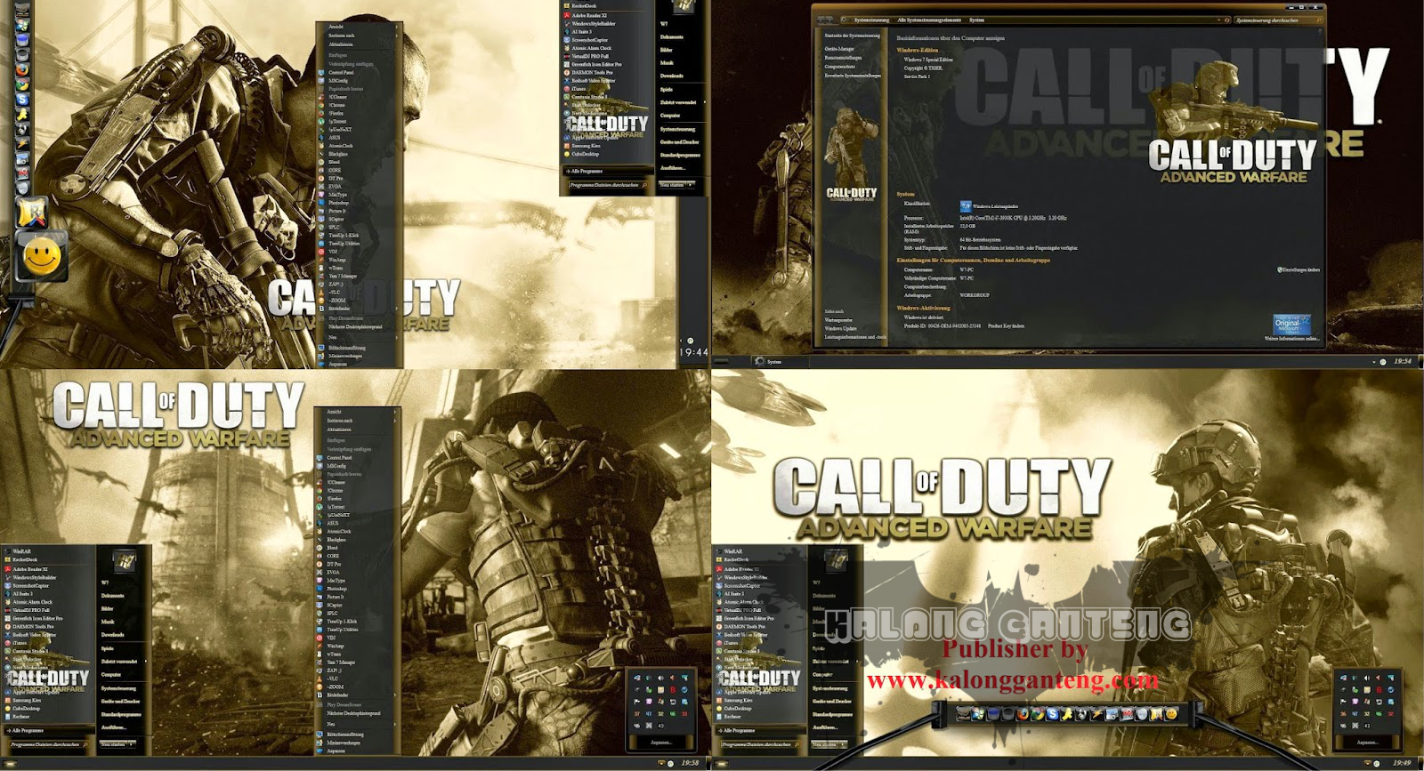 Call of Duty Skinpack for Windows 8/8.1 Screenshot