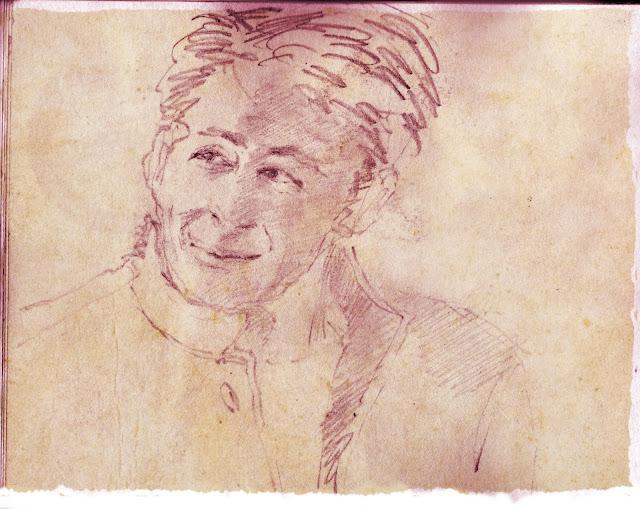 Pencil Sketch Sepia Paper