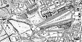 Rocque's Map of London of 1741-5 showing St James's Park  in London in the Eighteenth Century by Sir Walter Besant (1902)