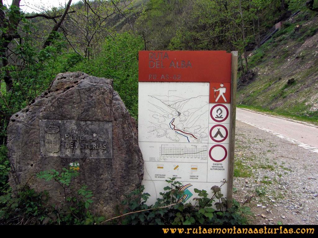 Ruta del Alba: Carteles inicial de la ruta del Alba