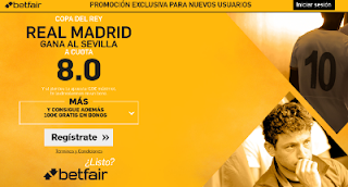 betfair supercuota 8 Real Madrid gana Sevilla Copa 12-1