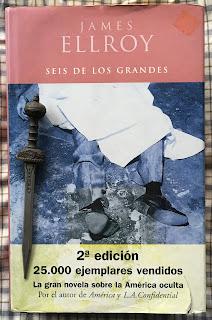 Portada del libro Seis de los grandes, de James Ellroy