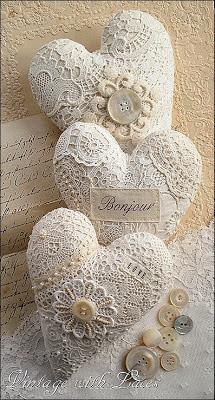 sachê de coração - patchwork