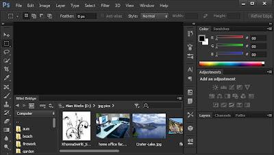 photoshop cs6 : mini bridge screen