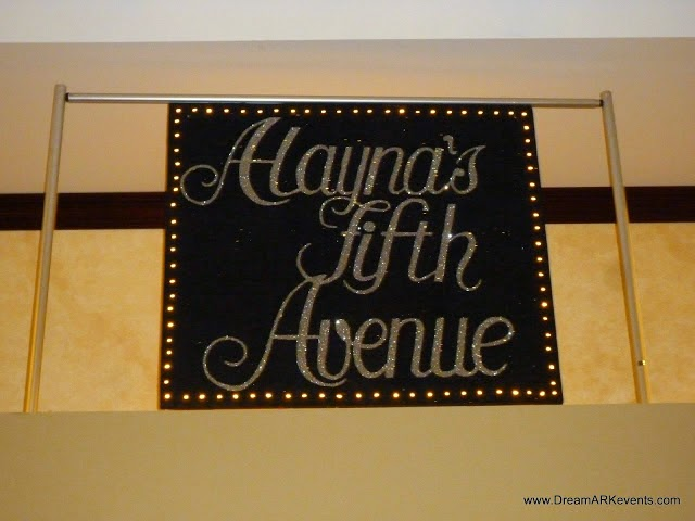 Fifth Avenue design customize banner for Bat Mitzvah event